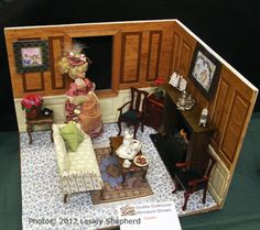 Roombox Displays from the Spring 2012 Seattle Dollhouse Show: Unexpected Balance