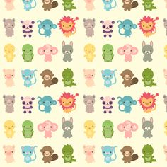 cute creatures fabric by indescribble on spoonflower custom fabric - Cute Pictures To Print