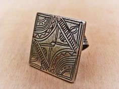 Ring - men's ring - tribal ring - Berber ring - tribal jewelry - Berber antiques - old ethnic adornment - Berber jewelry - Morocco jewelry -