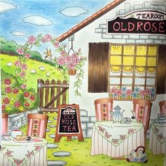 #romanticcountry #romanticcountry1rsttale #oldrosecafe --> If you're looking for the top-rated coloring books and writing utensils including colored pencils, watercolors, gel pens and drawing markers, please visit http://ColoringToolkit.com. Color... Relax... Chill.