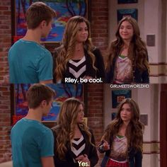 "#GirlMeetsWorld 1x20 ""Girl Meets First Date"" - Lucas, Topanga and Riley"