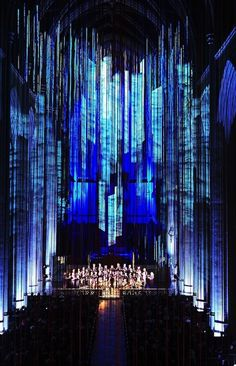 Graced With Light Installation in San Fransisco Cathedral 9