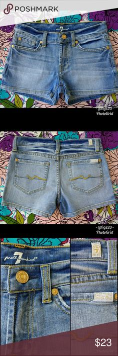 7FAM Girl's Denim Shorts These are definitely gorgeous 7 For All Mankind little girl's denim shorts in size 10. They have been washed once and have no flaws or stains. See photos, and let me known if you have any questions! 7 For All Mankind Bottoms Shorts