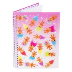 Colourful Good Luck Trolls A5 Spiral Bound Notebook
