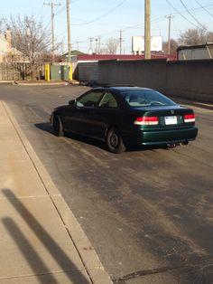 My DD 99 honda civic coupe. D16, AEM intake, 4-2-1 Megan racing header, Megan racing resonator, N1 catback
