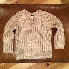 J. CREW chunky knit sweater Gold flaked, chunky knit sweater , condition: like new J. Crew Sweaters