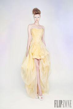 "Rami Kadi ""Les jardins suspendus"", S/S 2013 - Couture - http://www.flip-zone.com/rami-kadi-3834 - Silk Organza Lurex Blend Draped Gown"