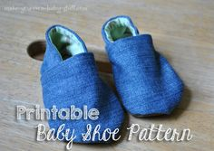 Prinat and make your own baby shoes. Cloth baby shoe pattern - http://www.makesewbaby.com/soft-sole-baby-shoes.html