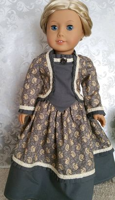 American Girl or 18 Inch Doll Historical Two-piece Civil War