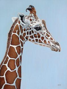 "Saatchi Online Artist: Clara Bastian; Oil, 2010, Painting ""Giraffe"""