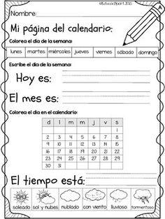 Spanish Practice, Spanish Lessons For Kids, Spanish Vocabulary, Spanish Language Learning, Teaching Spanish, Spanish Classroom Activities, Kindergarten Worksheets, Preschool Activities, Spanish Worksheets
