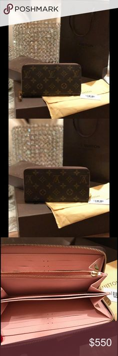 Louis Vuitton Monogram Zippy Wallet Beautiful Wallet. Like new condition. Rose Ballerine interior. No wear it or tear at all. In excellent used condition. Louis Vuitton Bags Wallets