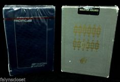Malaysia Airlines Batik Gray Cathay Airlines Blue SEALED Playing Cards Vintage | eBay