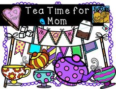 """Get ready for a wonderful Mother's Day with this """"Tea Time for Mom"""" set! Included in this download are a total of 20 images: 10 images in color and 10 in black and white:""""Mom"""" BannerBannerMom CookieFloral Tea CupWavy Tea CupPolka Dot Tea CupSugar CubesTea BagPolka Dot TeapotStriped TeapotIf you like these, feel free to check out more in my shop:Frilly Bracket Frames in ColorBuild a Bug Jar Insect Clip ArtWhat a Melon Complete Clip Art…"""