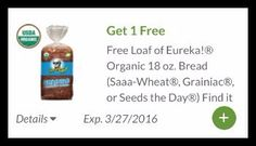 Publix Freebie : Free Eureka Organic Bread - http://couponsdowork.com/publix-coupon-matchups/eureka-organic-bread-coupon/