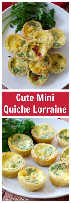 This delicious Mini Quiche Lorraine Recipe tastes just like the ones in Paris and is easy to make. The perfect appetizer for parties and celebrations.  via @Livingsmoments