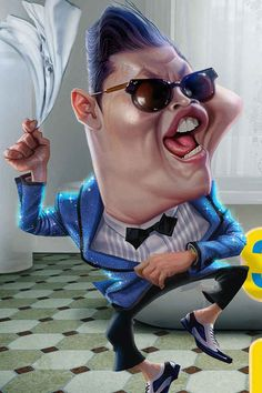 Psy | 29 Celebrity Caricatures That Are Incredibly Accurate