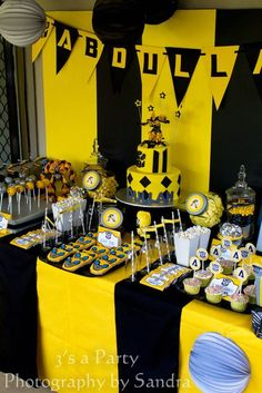 How to Roll Out a Transformer Party  #transformers #party #birthday #decorations