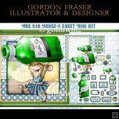 Mrs Gin Mouse 4 Sheet Mini Kit