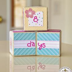 Sugar Shoppe: Sweet Baby Block Gift Idea by Courtney Lee on the Doodlebug Design Blog