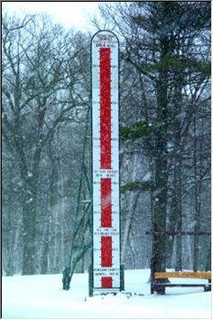 Yooper snow thermometer!