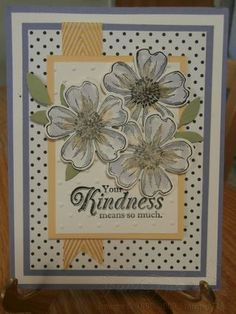 Love this stamp set....like the black and white with a pop of color....Flower Shop Bundle