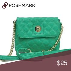 "Sorrentino Sori Collection ""225"" Quilted Crossbody Brand New. Green Teal. Luxe be a lady with this poised purse that features understated chain accents and classic quilted design.  Soft leatherette textured exterior. Multiple interior compartment keeps your belongings organized. Made of manmade leather. Dimension: Exterior – 9″ L x 7″ H x 1.5″ W; signature Interior – Great with cellphone pocket and essentials 16 handle drop Sorrentino Bags Crossbody Bags"