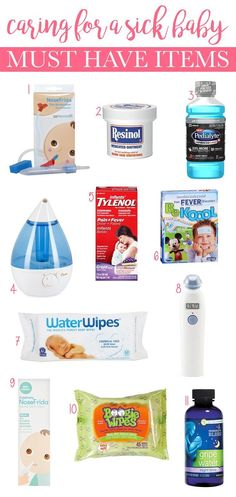 Sick Baby Must Haves Items