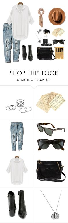 """Neurotic"" by runwayrobes ❤ liked on Polyvore featuring Topshop, Ray-Ban, Leica, Chanel, Very Volatile, Tiffany & Co., Old Navy, women's clothing, women and female"