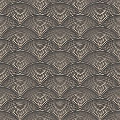 Feather Fan by Cole & Son - Charcoal and Bronze - Wallpaper : Wallpaper Direct Bronze Wallpaper, Geometric Wallpaper, Wallpaper Roll, Cole Son, Motif Art Deco, Cole And Son Wallpaper, Visual Texture, Fabric Houses, Wallpaper Online