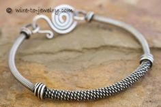 Wire Coiling Example - Sterling Silver Bangle