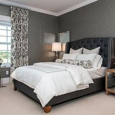 Atmosphere Interior Design - bedrooms - blue and gray bedroom, blue