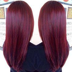 Burgundy haircolor