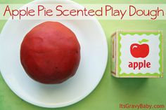 Apple Pie Scented Play Dough #preschool #craft