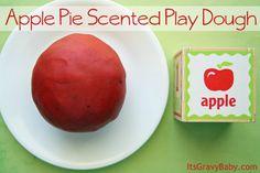 Apple Pie Scented Play Dough #preschool #craft
