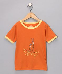 Take a look at this Orange Kangaroo Tee - Infant & Toddler by HuggyBunny on #zulily today!