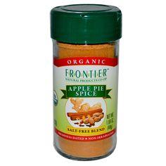 Frontier Natural Products, Органика, Специи для яблочного пирога, Без соли, 1,69 унции (48 г) - iHerb.com