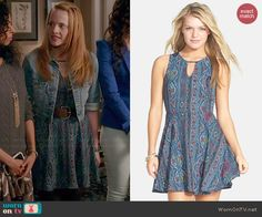 Daphne's blue printed dress on Switched at Birth.  Outfit Details: http://wornontv.net/45189/ #SwitchedatBirth