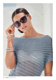 Vintage Crochet Patterns, Lace Knitting Patterns, Knitting Designs, Knitting Yarn, Creative Knitting, Knitting Magazine, Summer Knitting, Knit Fashion, Unique Outfits