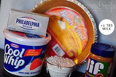 PeanutButter Pie Ingredients- for thanks giving cooking video!