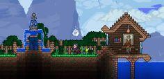 Casa de pesca e chafariz