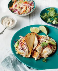 Fish Tacos and Topping Bar Recipe - Southern Living