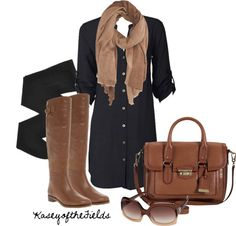 """Black and brown outfits   Black and Brown"""" by kaseyofthefields on ...   Polivore *Clothing Who ..."""