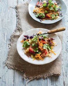 Toasted quinoa with coriander, lime & crunchy pumpkin