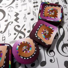 polymer clay beads by Terri Stone