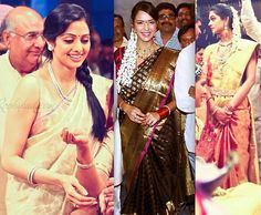 ram charan and upasana wedding-sridevi-lakshmi manchu and sneha South Indian Weddings, South Indian Bride, Royal Jewelry, Jewellery, Sneha Reddy, Lakshmi Manchu, Wedding Sarees, Long Braids, Groom Wear