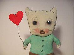 my Valentine cat doll....  original design , original art copyright protected by the artist Sandy Mastroni