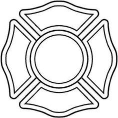 firefighter maltese cross stencil - Google Search