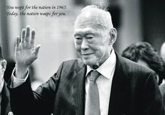 You wept for the nation in 1865. Now the nation weeps for you. Thank you Mr. Lee Kuan Yew, for all you have done for Singapore! #leekuanyew #1923-2015 #foundingfather #singapore #leekuanyewpassesonMarch23,2015