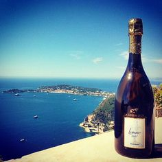 Cuvee Louise 2002 at La Chèvre d'Or in the heart of Eze @lachevredor #BlueMood #pommery